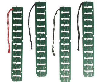 4 PACK Upcycled Circuit Board E-Waste Bookmarks