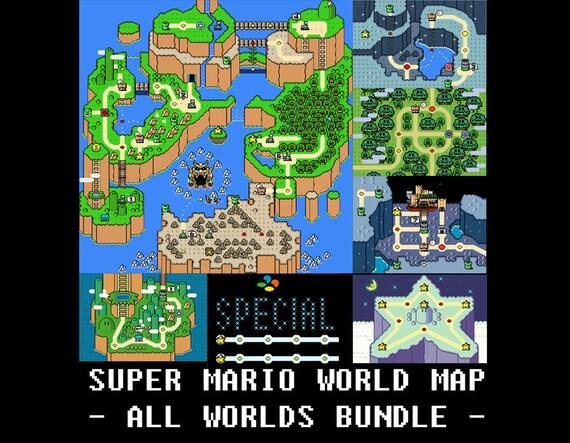 Super mario world all worlds maps cross stitch pattern gumiabroncs Images