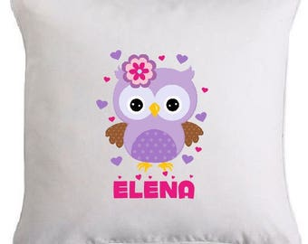 """OWL"" pillow personalized with name"