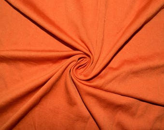 """Brushed Orange #48 Swimwear Activewear 4 Way Stretch Nylon Spandex Lycra Solid Apparel Cosplay Craft Fabric 56""""-58"""" Wide By The Yard"""