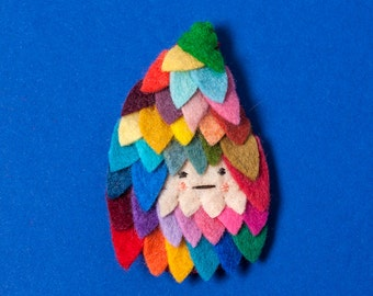 Feathered Brooch - made to order