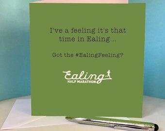 Ealing Half Marathon (EHM) Card for Runner / Running Friend #EalingFeeling