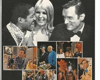 1970 Advertisement Playboy After Dark Television Show 70s Adult TV Celebrity Sammy Davis Jr. Hugh Hefner Rowan Martin  Art Decor