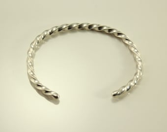 Vintage Sterling Silver Twisted Wire Cuff Bracelet