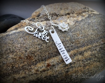 SWEET 16 Birthday GIfts - Hand Stamped Bar Necklace - Teen Jewelry - Birthday Gift - Personalized GIfts - Personalized - Personalized