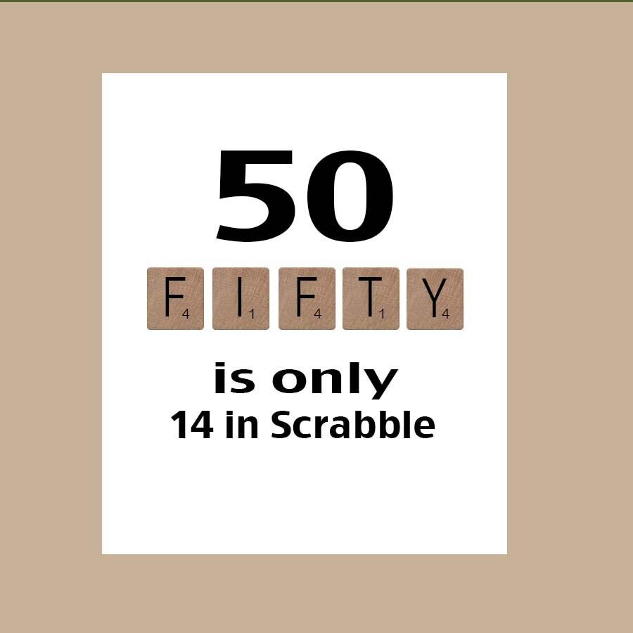 50. Geburtstag Karte runden Geburtstag Scrabble