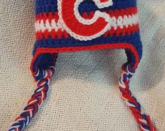Crochet Chicago Cubs Hat
