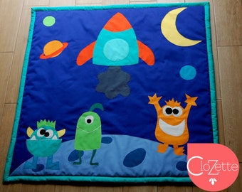 Comfy baby play mat monsters