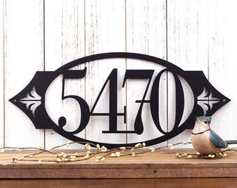 Outdoor House Number Metal Sign | Metal Address Sign | House Number Sign | Address House Numbers | Metal Wall Art | Outdoor