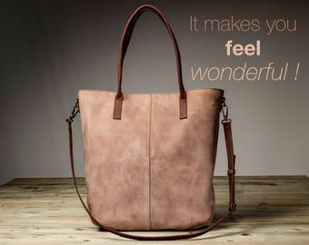Leather Handbag Women with zipper, Leather Handmade Handbag Women