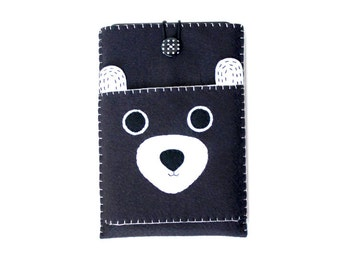 Bear tablet cover | Kindle Fire cover | Kindle sleeve | ereader sleeve | Felt Kindle Fire sleeve | Kindle case | Kindle Paperwhite sleevee