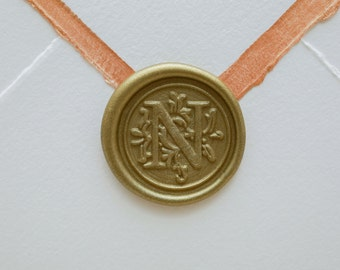 N Letter Wax Seal | Initial Wax Seal Stamp