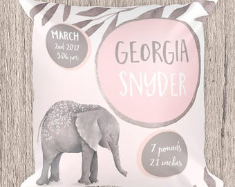 baby pillow, elephant pillow, baby gift, elephant baby pillow, elephant pillow for baby, elephant cushion, baby cushion, elephant baby girl