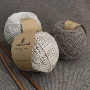 Organic Mongolian  Luxurious Cashmere Yarn 100% Natural Cashmere Yarn Undyed Natural Colour Yarn