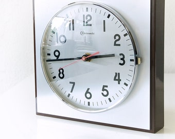 Mid Century wall clock, Bauknecht, West Germany. Space Age