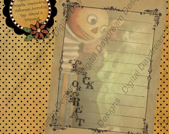 Halloween, The Natural and The Whimsical - Printable Journaling Cards Digital Download