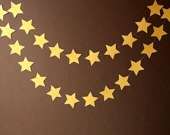 Gold star garland, Star garland, Birthday decor, Birthday decoration, Gold garland, Gold star garland, Christmas decor