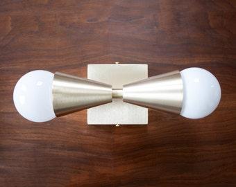 Kelvin Solid Brass Sconce - Brushed