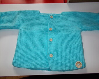 Baby Cardigan knitting by hand