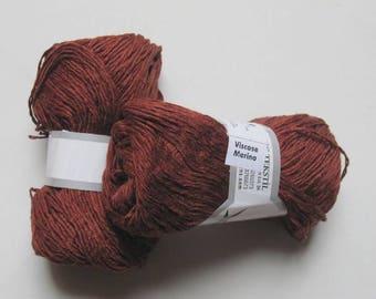 5 balls viscose Brown Merino Wool