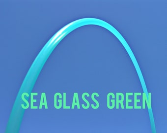 "Sea Glass Green 3/4"" POLYPRO Dance & Exercise Hula Hoop COLLAPSIBLE push button or minis aqua"