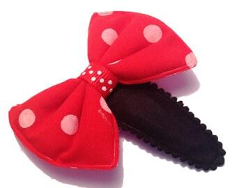 Hair - Clip - red - Kawaii bowties