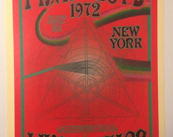 Pink Floyd 1960s Art Nouveau Concert Poster