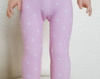 Light Pink with White Dots Leggings for Wellie Wisher Dolls by The Glam