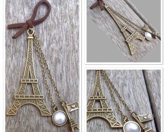 French Paris Eiffel Tower Love Vintage Style Antique Alloy Metal Bookmark
