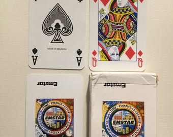 commercial  company, Emstar, plactic coated  finish playing cards.