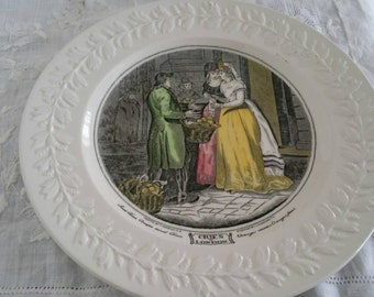 Adams Pottery Cries Of London Sweet China Oranges Leaf Embellished Plate 26cm
