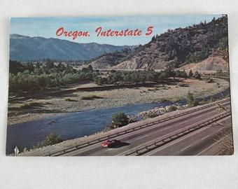 Postcard Oregon Interstate 5 Color Umpqua River