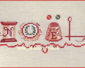 "Embroidery cross stitch ""Christmas needlework"" - v pattern."