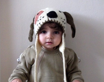 Cute dog hat-Knitting Baby  Hat  - for Baby or Toddler