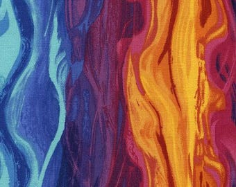 216109 fabric with colorful wavy design by Timeless Treasures