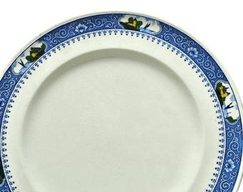 Antique Minton China Dinner Plate #2 - Milton - Castles in Border 10 inch  sc 1 st  Etsy & Pair of Blue Willow China Dinner Plates English Ironstone