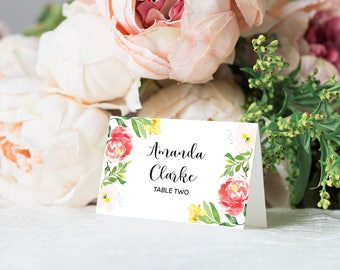Name Cards Wedding Seating, Wedding Place Cards, Printable Wedding Place Cards, PDF Instant Download