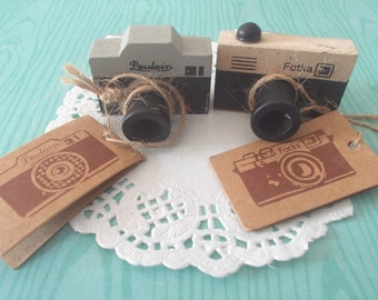 Vintage Camera Rubber Stamp - Wooden Rubber Stamp - 1 pc