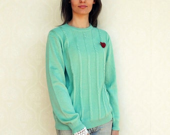 "Vintage pullover/sweater, small medium - Peppermint Green. . . ""Like"" our fb page for 10% discount"