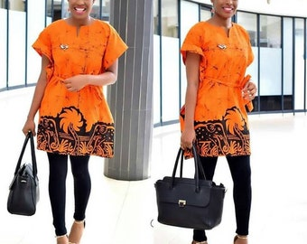 African Print Dress Top, Ankara Top