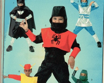 Boys Generic SUPER HEROES/NINJA McCall's Costumes Pattern 4694 Child Sizes 3 4 5