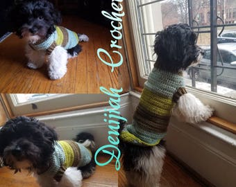 Handmade Crochet Puppy Dog Sweater