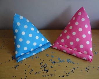 Polka Dot/Stars iPad/Tablet Beanbag Pink, Blue, Black