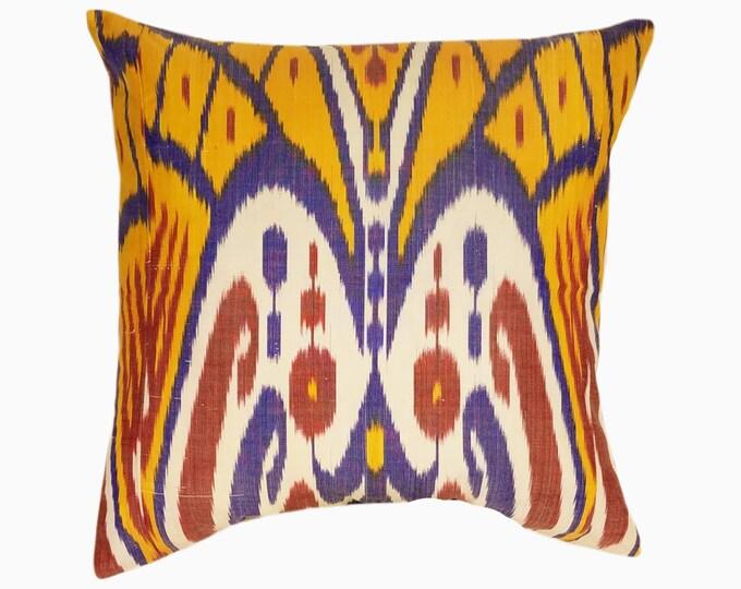 Ikat Pillow, Ikat Pillow Cover IP118 (506-2aa3), Ikat throw pillows, Designer pillows, Decorative pillows, Accent pillows