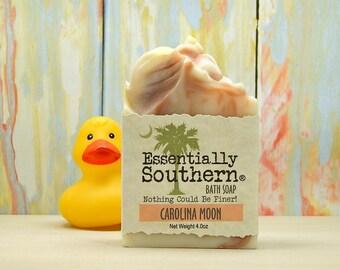 Carolina Moon, Bath Soap, Bath Bar, Gift for Her, Hostess Gift, Co-Worker Gift, Handmade Artisan Soap, Charleston, South Carolina