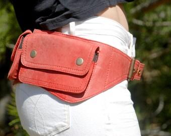 Hip Bag, Leather Utility Belt, Festival Hip Bag for Women & Men, Leather Hip Bag, Burning Man Bag, Leather Fanny Pack, Waist Bag, Belt Bag