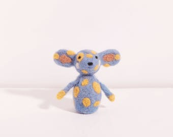 Mieko the periwinkle and yellow mouse