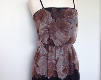 Vintage Floral Sheer Elegant and Classy Spring Summer Dress