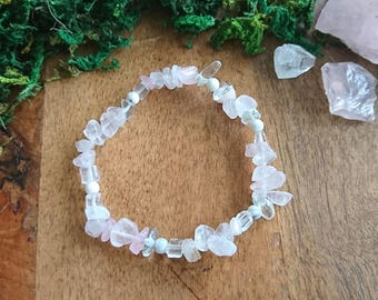 Crystal Love and Peace-- Rose Quartz and Howlite