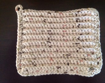 100% Cotton Dishcloth/Washcloth Handmade Oatmeal
